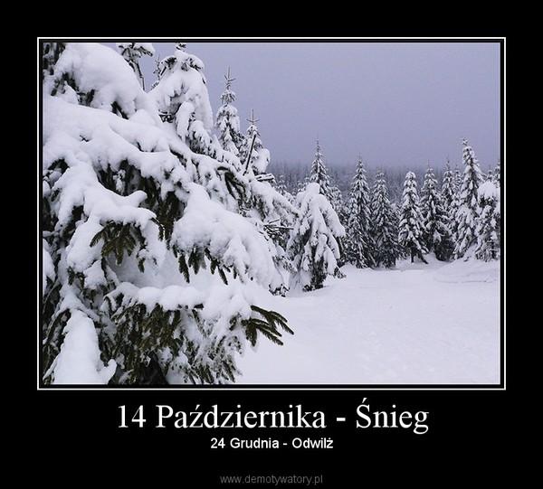 14 Października - Śnieg – 24 Grudnia - Odwilż