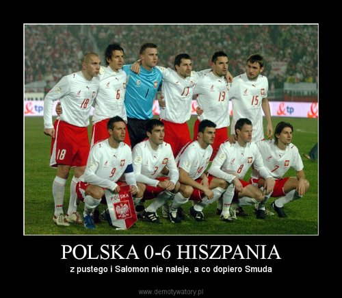 POLSKA 0-6 HISZPANIA