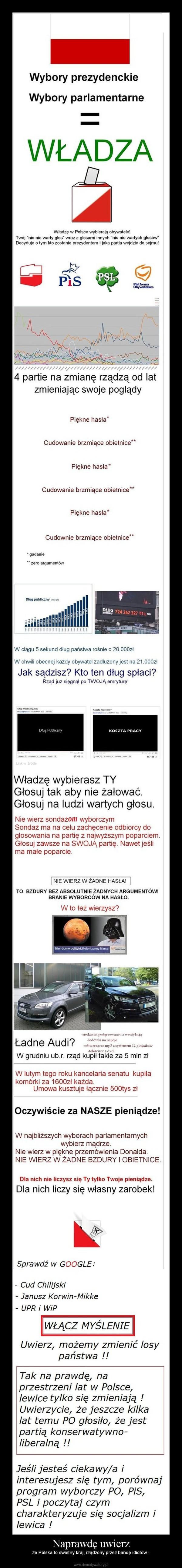 Naprawdę uwierz – że Polska to świetny kraj, rządzony przez bandę idiotów !