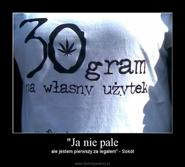 """""""Ja nie pale – ale jestem pierwszy za legalem"""" - Sokół"""