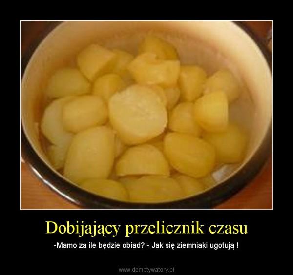 Dobijający przelicznik czasu – -Mamo za ile będzie obiad? - Jak się ziemniaki ugotują !