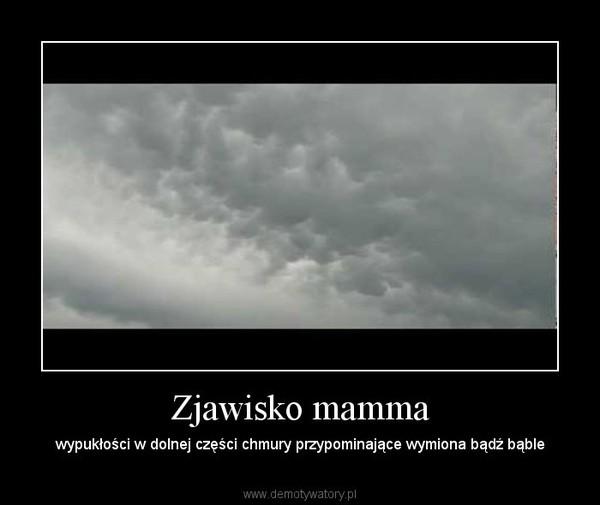 Zjawisko mamma – wypukłości w dolnej części chmury przypominające wymiona bądź bąble