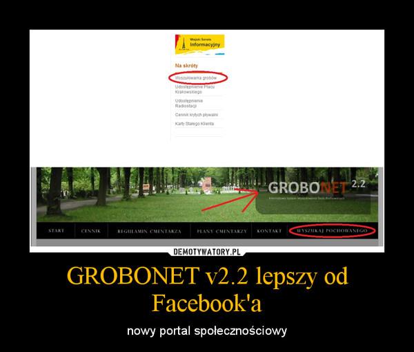 GROBONET v2.2 lepszy od Facebook'a – nowy portal społecznościowy