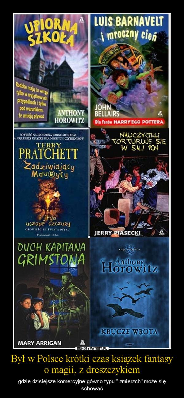 """Był w Polsce krótki czas książek fantasy o magii, z dreszczykiem – gdzie dzisiejsze komercyjne gówno typu """" zmierzch"""" może się schować"""