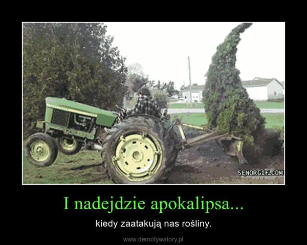 I nadejdzie apokalipsa... – kiedy zaatakują nas rośliny.