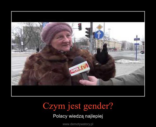 Czym jest gender? – Polacy wiedzą najlepiej