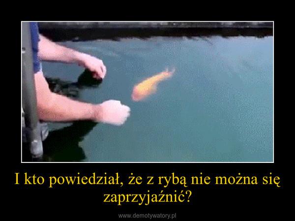 I kto powiedział, że z rybą nie można się zaprzyjaźnić? –