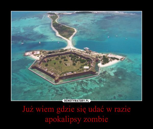 Już wiem gdzie się udać w razie apokalipsy zombie –