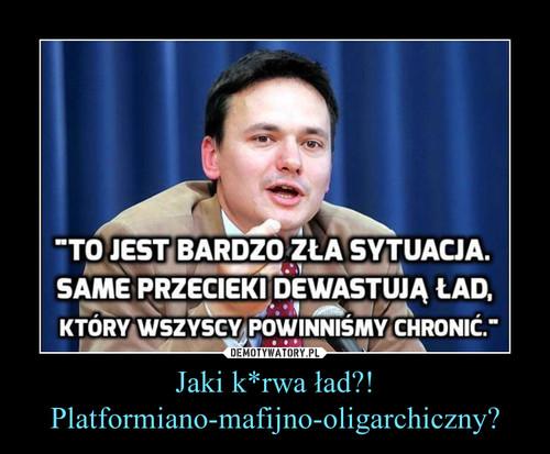 Jaki k*rwa ład?! Platformiano-mafijno-oligarchiczny?