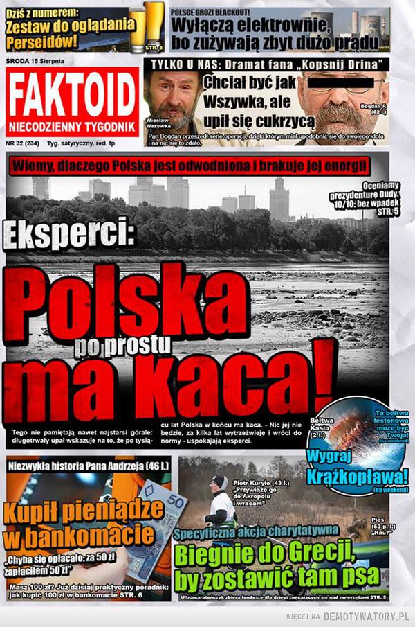 Oto wyjaśnienie upałów w Polsce –