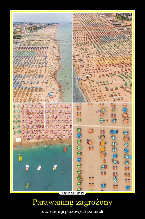Parawaning zagrożony – oto szeregi plażowych parasoli