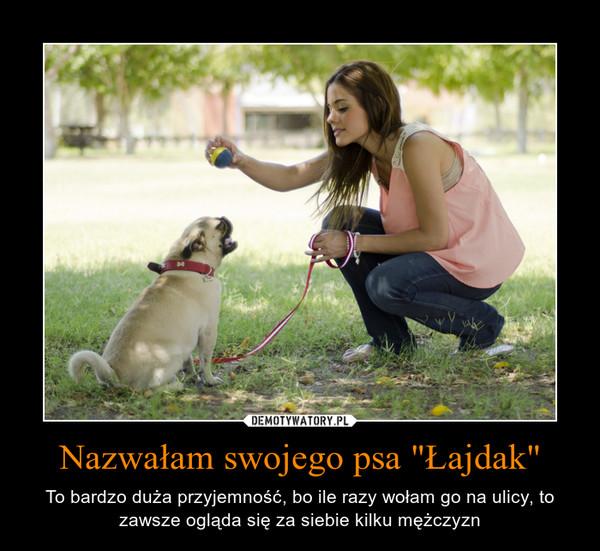 """Nazwałam swojego psa """"Łajdak"""" – To bardzo duża przyjemność, bo ile razy wołam go na ulicy, tozawsze ogląda się za siebie kilku mężczyzn"""