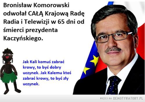 Komorowski odwołał całą KRRiT w 65 dni