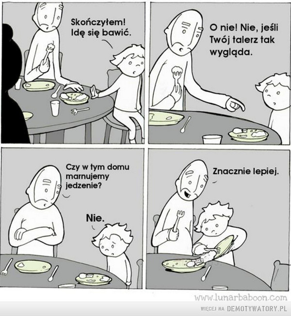 Kto zjada ostatki, ten piękny i gładki –
