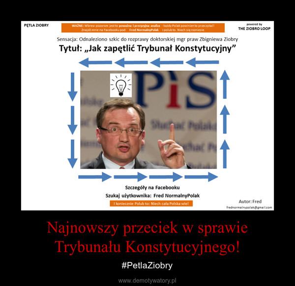 Najnowszy przeciek w sprawie Trybunału Konstytucyjnego! – #PetlaZiobry