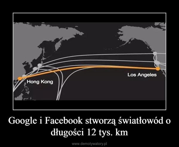 Google i Facebook stworzą światłowód o długości 12 tys. km –