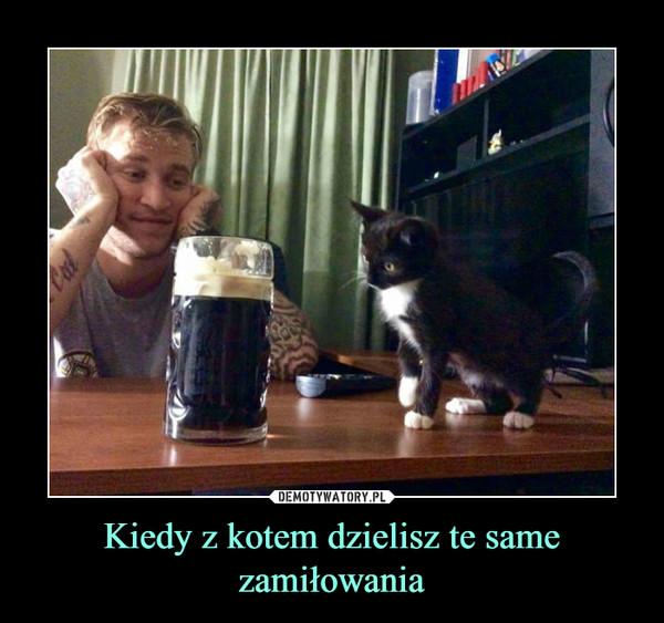 Kiedy z kotem dzielisz te same zamiłowania –