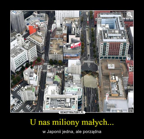 U nas miliony małych... – w Japonii jedna, ale porządna
