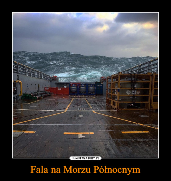 Fala na Morzu Północnym –