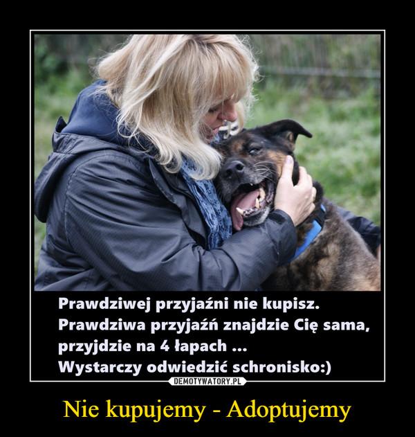 Nie kupujemy - Adoptujemy –