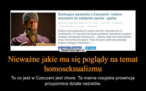 Nieważne jakie ma się poglądy na temat homoseksualizmu