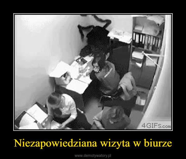 Niezapowiedziana wizyta w biurze –