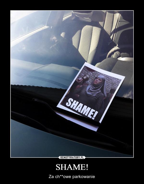 SHAME! – Za ch**owe parkowanie