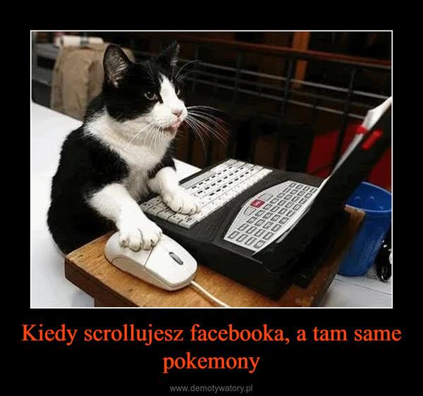 Kiedy scrollujesz facebooka, a tam same pokemony –