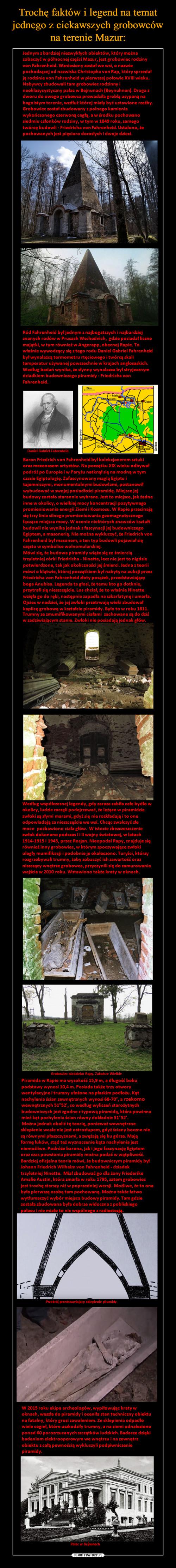 Trochę faktów i legend na temat jednego z ciekawszych grobowców na terenie Mazur: