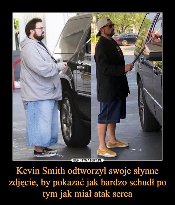 Kevin Smith odtworzył swoje słynne zdjęcie, by pokazać jak bardzo schudł po tym jak miał atak serca –