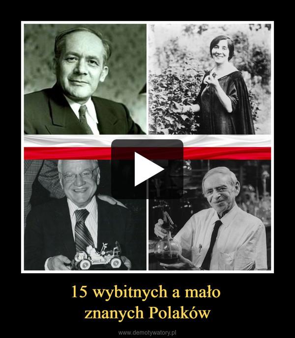 15 wybitnych a mało znanych Polaków –