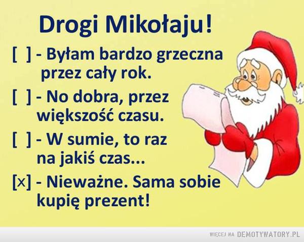 Drogi Mikołaju! –