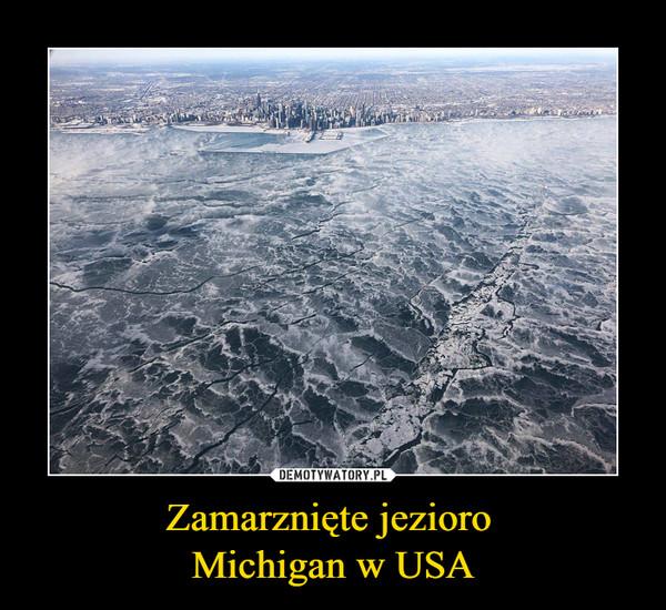 Zamarznięte jezioro Michigan w USA –