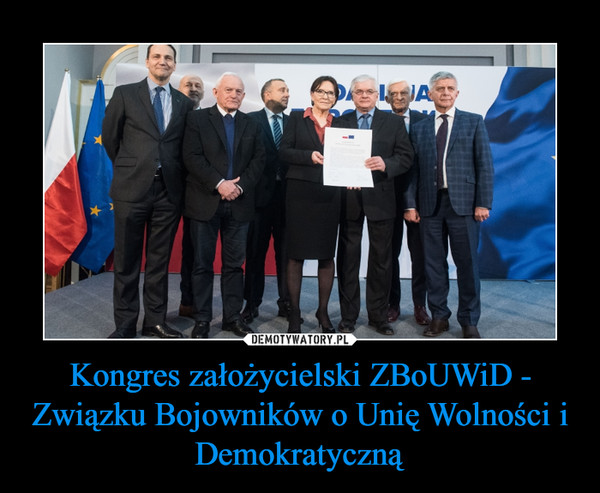 Kongres założycielski ZBoUWiD - Związku Bojowników o Unię Wolności i Demokratyczną –