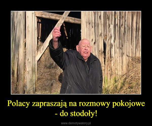 Polacy zapraszają na rozmowy pokojowe - do stodoły! –