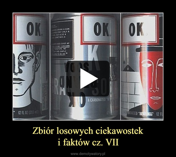 Zbiór losowych ciekawosteki faktów cz. VII –