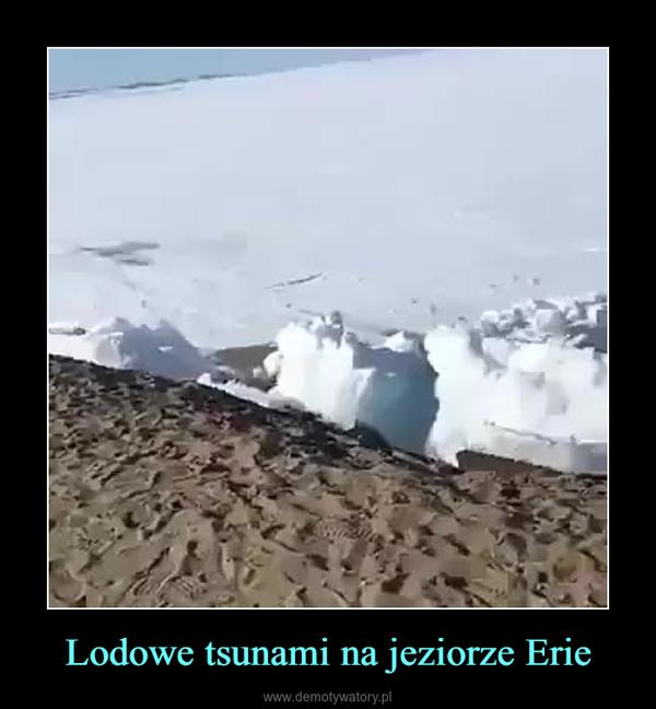 Lodowe tsunami na jeziorze Erie –