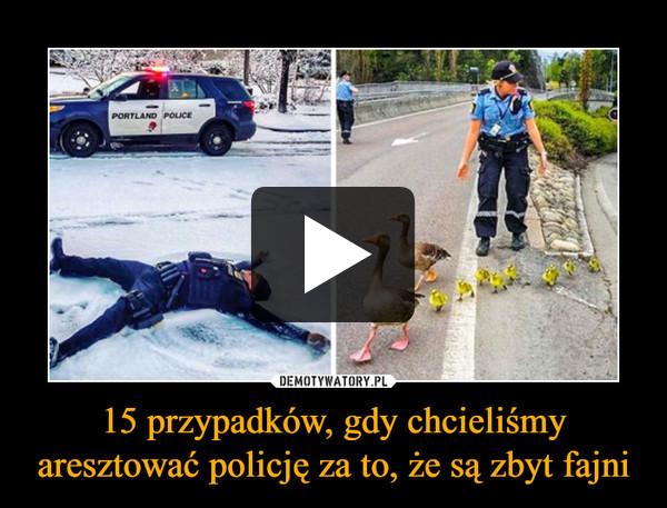 15 przypadków, gdy chcieliśmy aresztować policję za to, że są zbyt fajni –