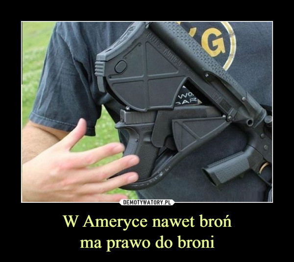W Ameryce nawet brońma prawo do broni –