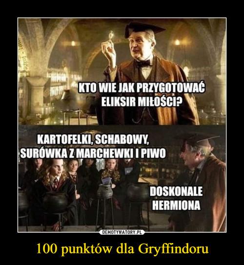 100 punktów dla Gryffindoru