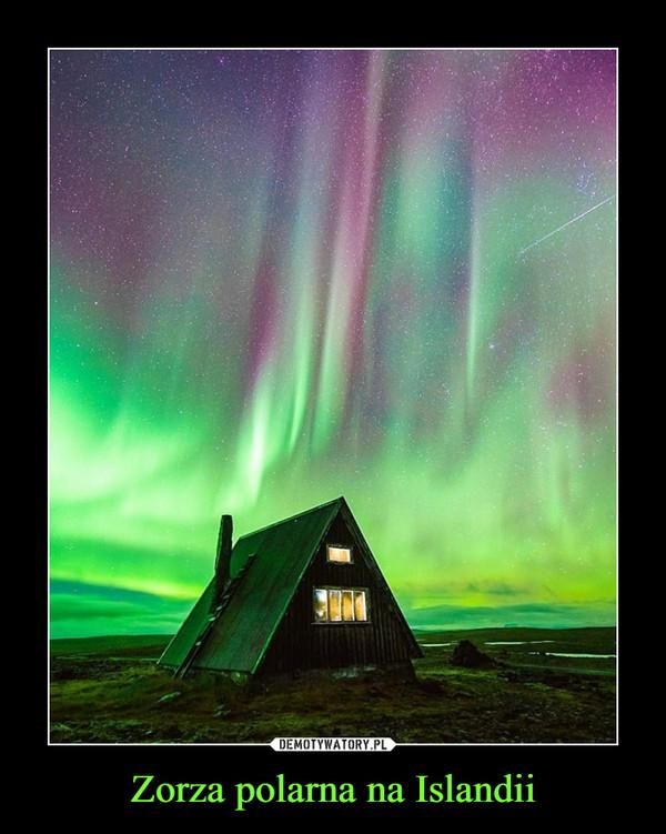 Zorza polarna na Islandii –