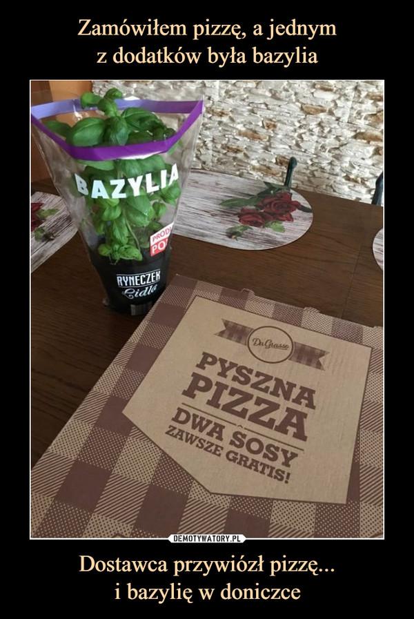 Dostawca przywiózł pizzę...i bazylię w doniczce –
