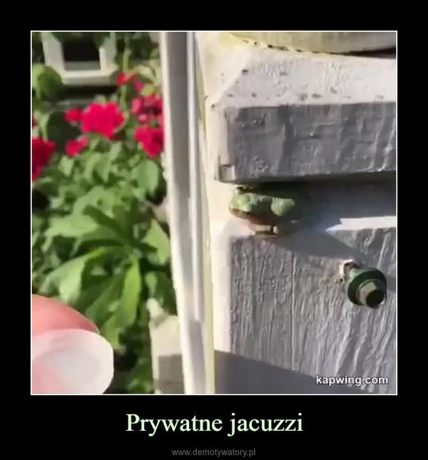 Prywatne jacuzzi –