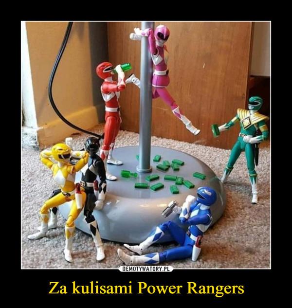 Za kulisami Power Rangers –