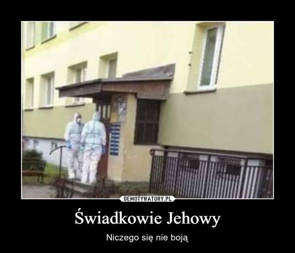 Świadkowie Jehowy – Niczego się nie boją
