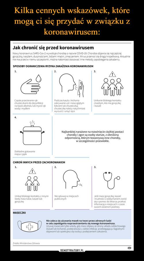 Kilka cennych wskazówek, które mogą ci się przydać w związku z koronawirusem:
