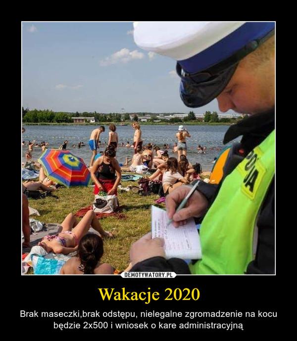 Wakacje 2020 – Brak maseczki,brak odstępu, nielegalne zgromadzenie na kocu będzie 2x500 i wniosek o kare administracyjną