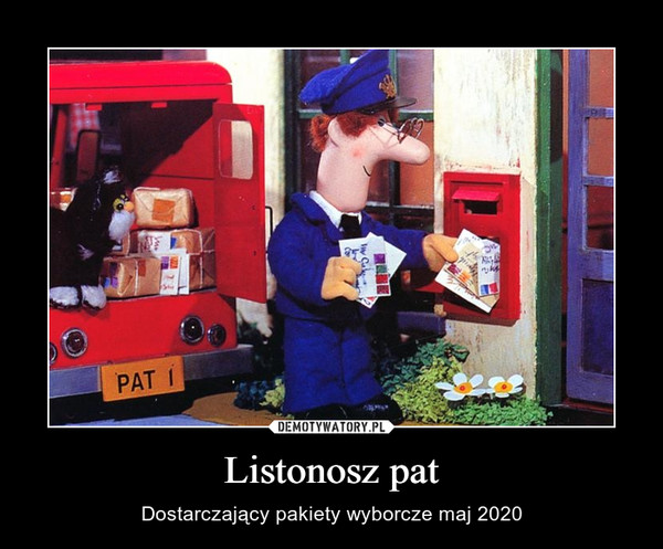 Listonosz pat – Dostarczający pakiety wyborcze maj 2020
