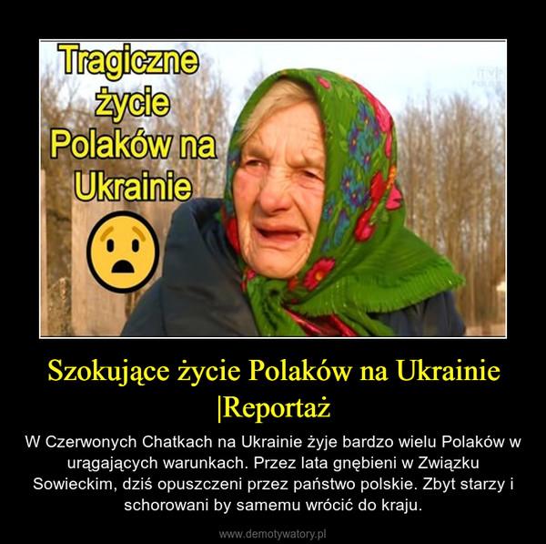 Szokujące życie Polaków na Ukrainie |Reportaż – W Czerwonych Chatkach na Ukrainie żyje bardzo wielu Polaków w urągających warunkach. Przez lata gnębieni w Związku Sowieckim, dziś opuszczeni przez państwo polskie. Zbyt starzy i schorowani by samemu wrócić do kraju.