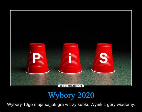 Wybory 2020 – Wybory 10go maja są jak gra w trzy kubki. Wynik z góry wiadomy.